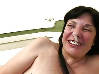 Retro Spanish Cougar With Big Funbags Does Deep Throat Before Being Frigged