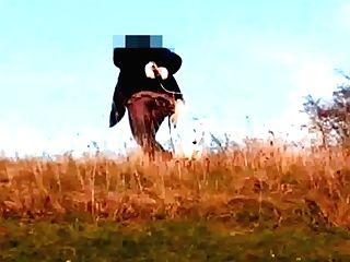 Dog Ambling - Crotchless Pantyhose,  Pantieless